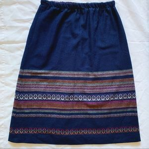 Vtg Prestige of Boston Wool Patterned Stripe Skirt